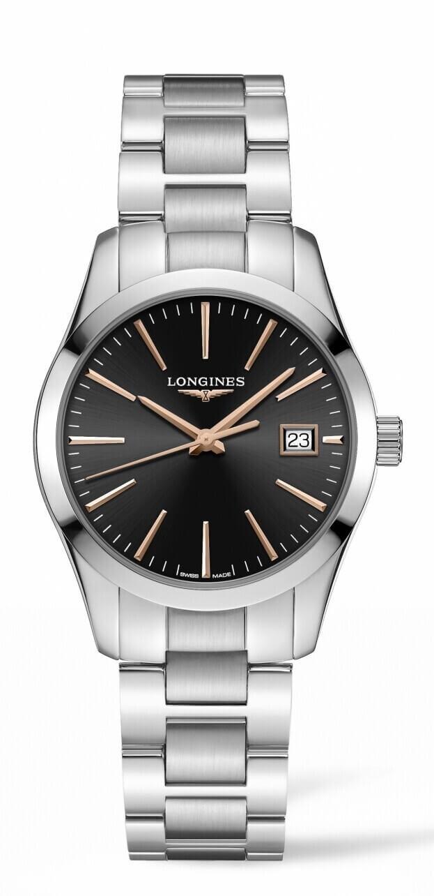 LONGINES Conquest Classic Quartz 34mm Μαύρο Καντράν Γυναικείο Ρολόι