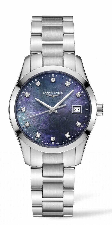 LONGINES Conquest Classic Quartz 34mm Μαύρο Καντράν με Μπριγιάν Γυναικείο Ρολόι