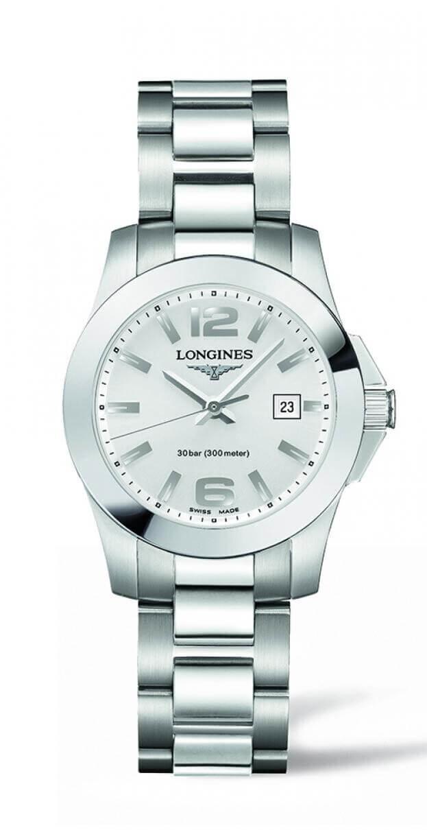 LONGINES Conquest Quartz 29mm Ασημί Καντράν Γυναικείο Ρολόι