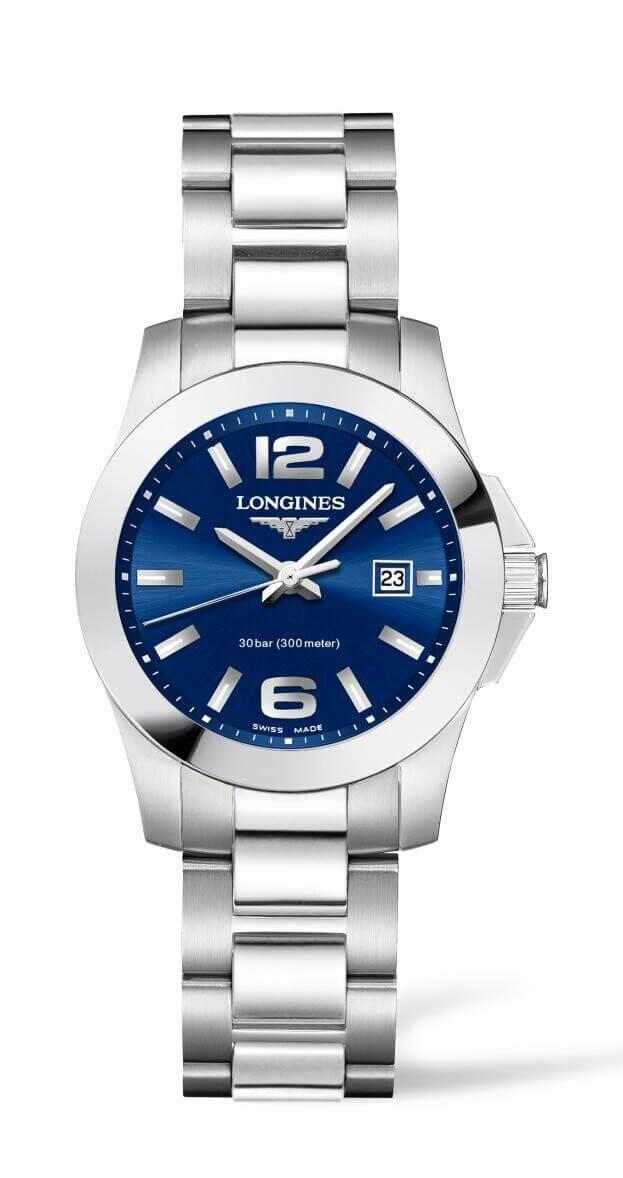 LONGINES Conquest Quartz 29.5mm Μπλε Καντράν Γυναικείο Ρολόι