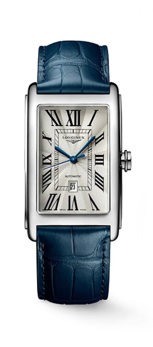 LONGINES Dolce Vita Automatic Rectangular  28.2x47mm Ασημί Καντράν Γυναικείο Ρολόι