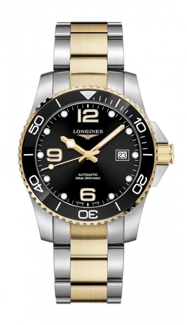 LONGINES HydroConquest Automatic 41mm Μαύρο Καντράν Ανδρικό Ρολόι
