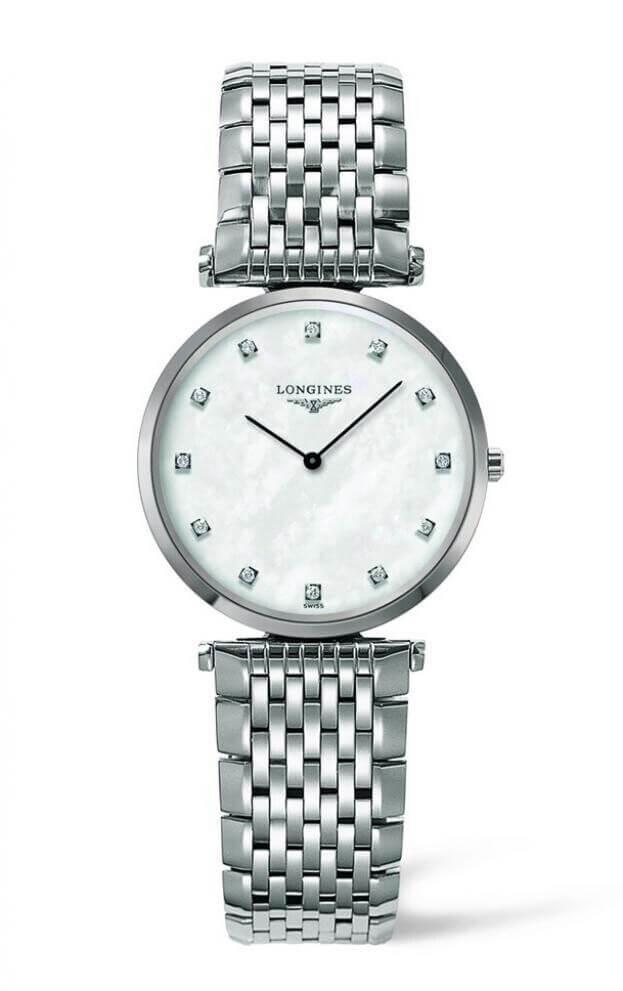 LONGINES La Grande Classique Quartz 29mm Λευκό Φίλντισι Καντράν με Μπριγιάν