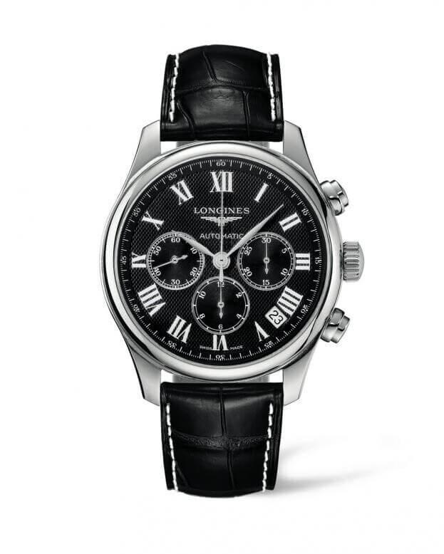 LONGINES Master Collection Chronograph Automatic 44mm Μαύρο Καντράν Ανδρικό Ρολόι
