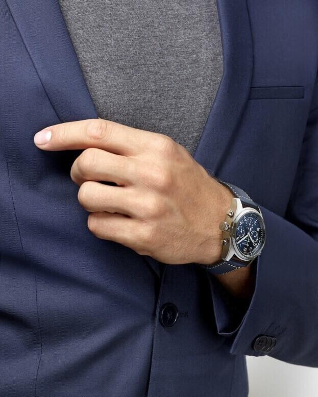 LONGINES Spirit Automatic Chronograph 42mm Blue Dial Mens Watch