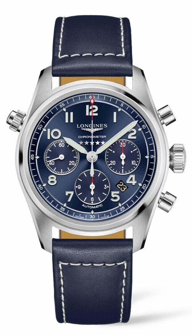LONGINES Spirit Automatic Chronograph 42mm Μπλε Καντράν Ανδρικό Ρολόι