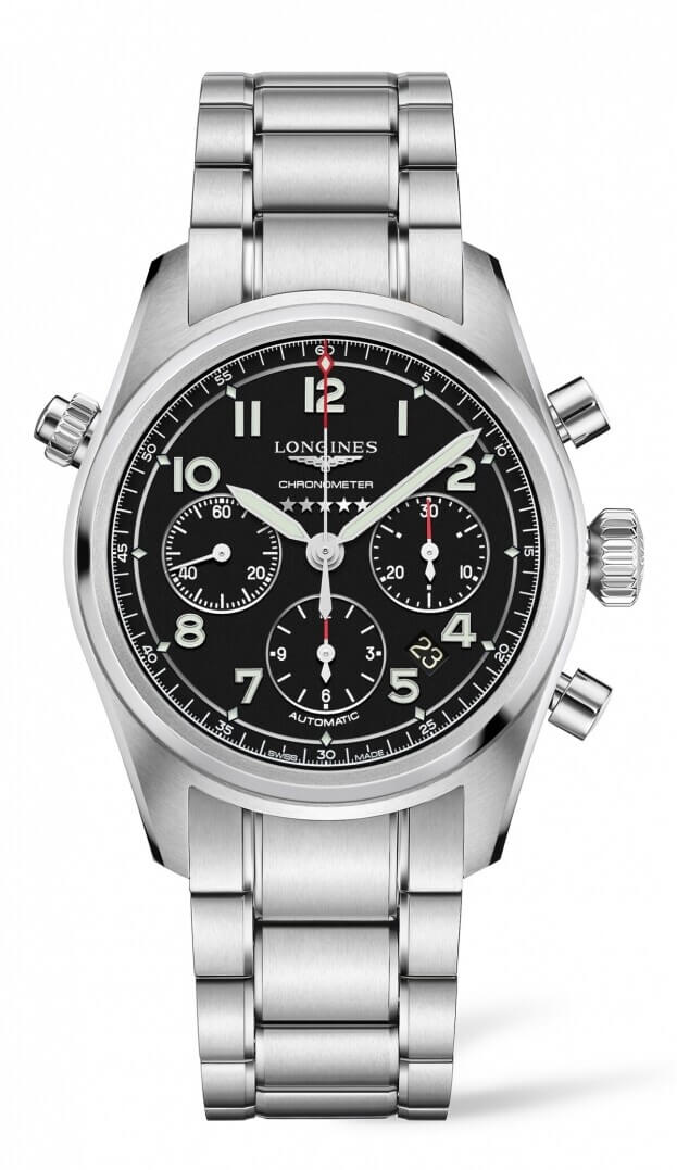 LONGINES Spirit Automatic Chronograph 42mm Μαύρο Καντράν Ανδρικό Ρολόι