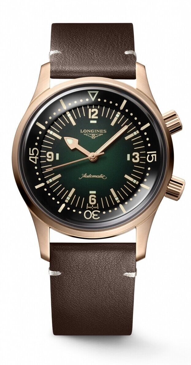 LONGINES THE LEGEND DIVER WATCH BRONZE 42mm GREEN DIAL
