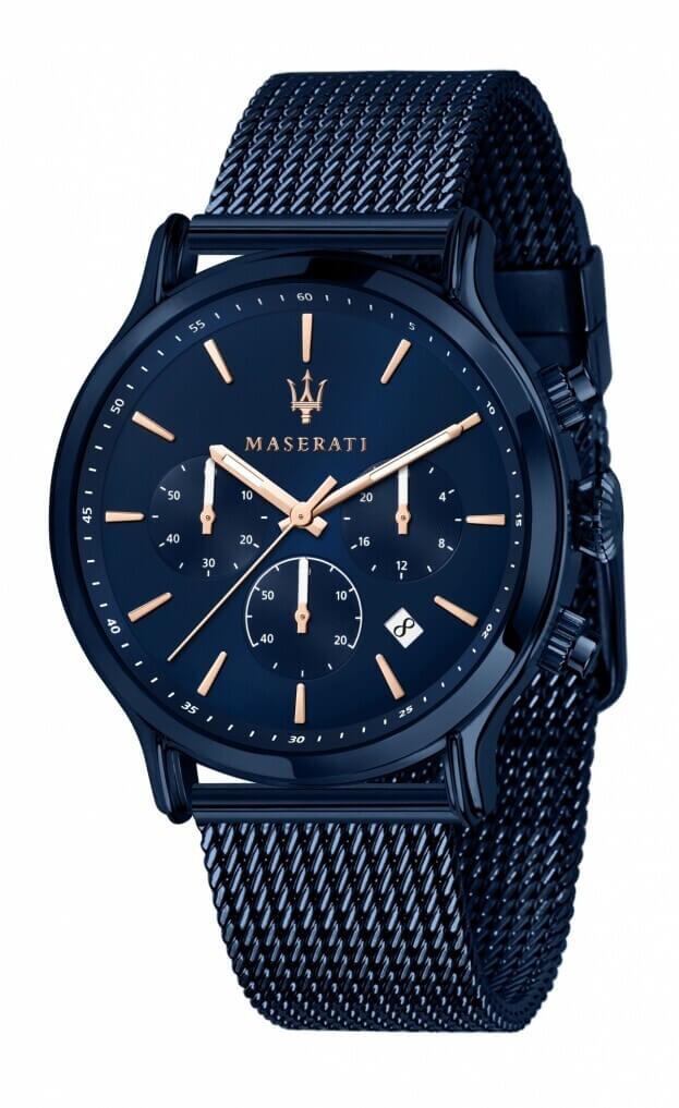 MASERATI BLUE EDITION 42mm Μπλε Καντράν Ανδρικό Ρολόι Quartz Χρονογράφος Ακριβείας