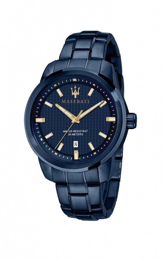 MASERATI BLUE EDITION 44mm Μπλε Καντράν Ανδρικό Ρολόι Quartz Ακριβείας