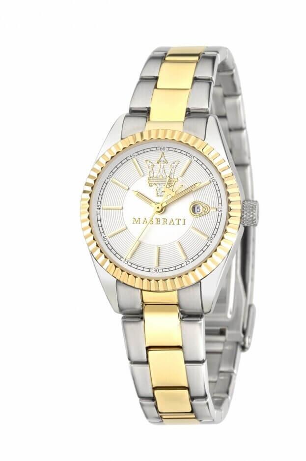 MASERATI COMPETIZIONE Quartz Ασημί Καντράν Γυναικείο Ρολόι 31mm R8853100505