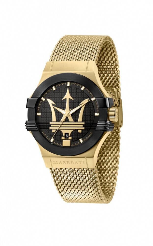 MASERATI POTENZA Quartz Μαύρο Καντράν Ανδρικό Ρολόι 42mm R8853108006
