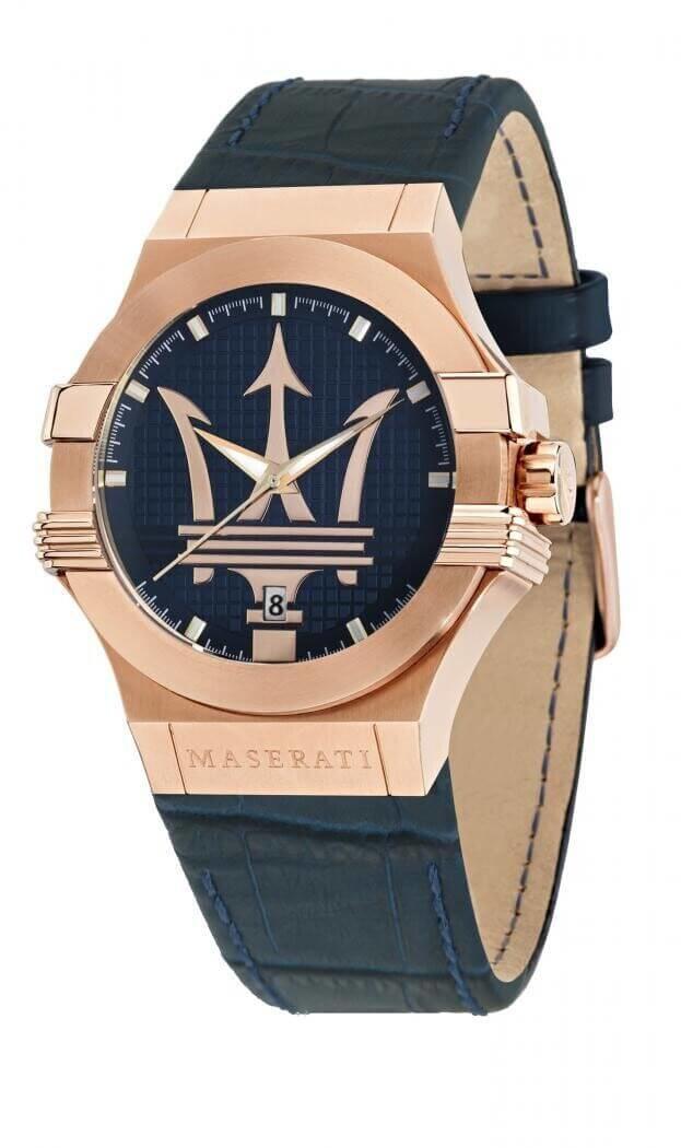 MASERATI POTENZA Quartz Μπλε Καντράν Ανδρικό Ρολόι 42mm R8851108027