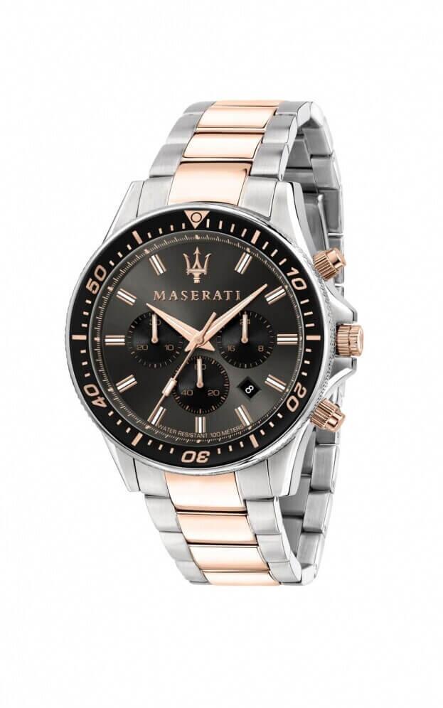 MASERATI SFIDA Quartz Μαύρο Καντράν Ανδρικό Ρολόι 44mm R8873640002