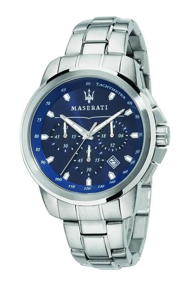 MASERATI SUCCESSO 44mm Μπλε Καντράν Ανδρικό Ρολόι Quartz Χρονογράφος Ακριβείας