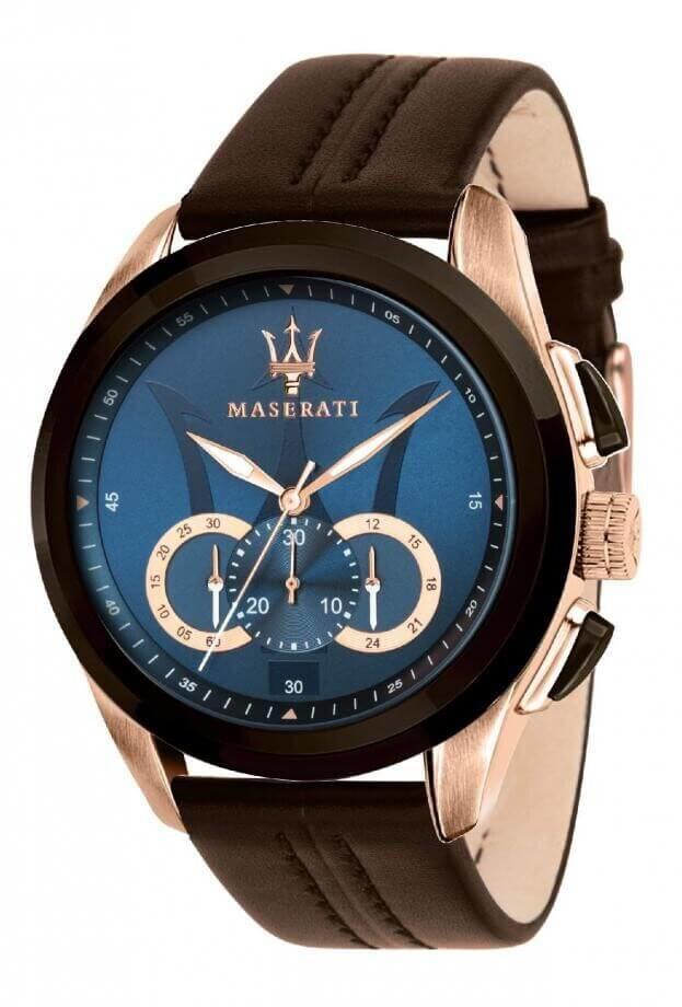 MASERATI TRAGUARDO Quartz Χρονογράφος Ακριβείας 45mm Μπλε Καντράν Ανδρικό Ρολόι