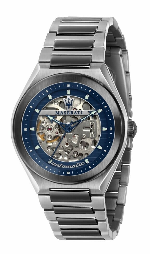 MASERATI TRICONIC 40mm Ανδρικό Ρολόι Αυτόματο Μπλε Καντράν
