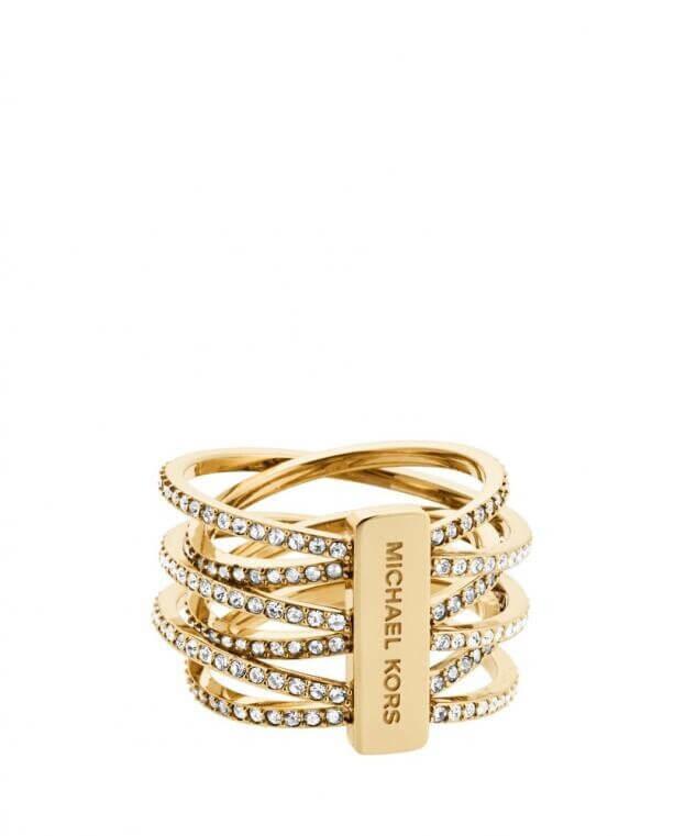 MICHAEL KORS BRILLIANCE Δαχτυλίδι ατσάλι επιχρυσωμένο