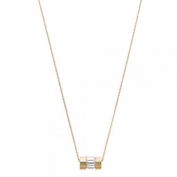 MICHAEL KORS BRILLIANCE GOLD PLATED STAINLESS STEEL NECKLACE