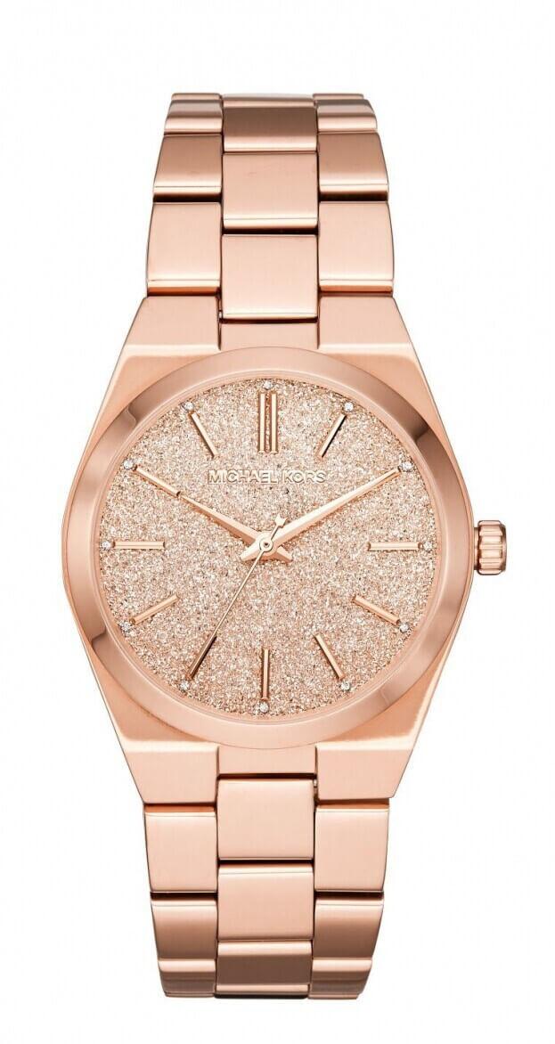 Michael Kors Channing 36mm Ροζ Χρυσό Καντράν Γυναικείο Ρολόι