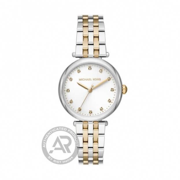 MICHAEL KORS Diamond Darci 34mm Δίχρωμο Γυναικείο Ρολόι