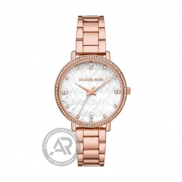 MICHAEL KORS Pyper 39mm Ροζ Χρυσό Γυναικείο Ρολόι