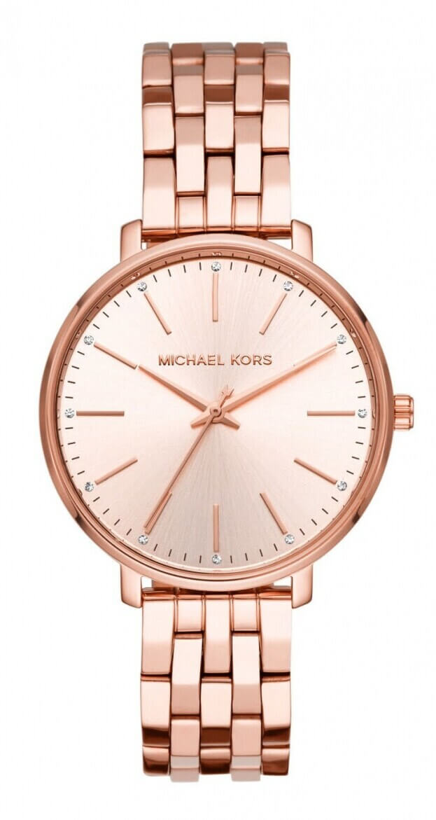 MICHAEL KORS Pyper 38mm Ροζ Χρυσό Καντράν Γυναικείο Ρολόι