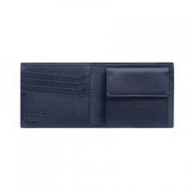 MONTBLANC 4810 WESTSIDE WALLET 4cc WITH COIN CASE BLUE