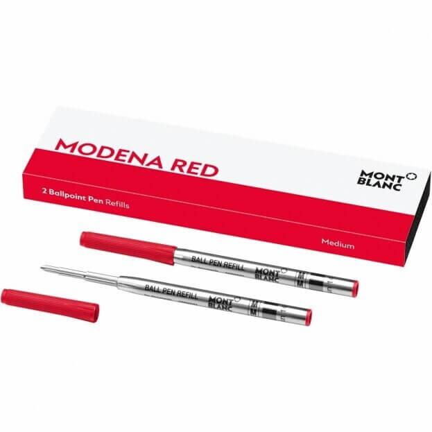 MontBlanc Ανταλλακτικά Μελάνια Κόκκινο Ballpoint Pen Refills Medium Modena Red (2 τμχ)