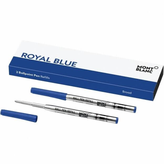 MontBlanc Ανταλλακτικά Μελάνια Μπλε Broad Refills Royal Blue (2 τμχ)