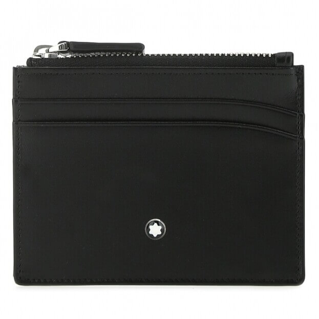 Montblanc Δερμάτινη Καρτοθήκη Montblanc Meisterstück Pocket 4cc and zip pocket Μαύρη