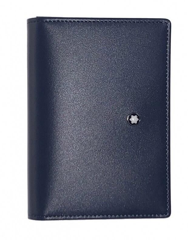 Montblanc Δερμάτινη Καρτοθήκη Meisterstück Business Card Holder Μπλε