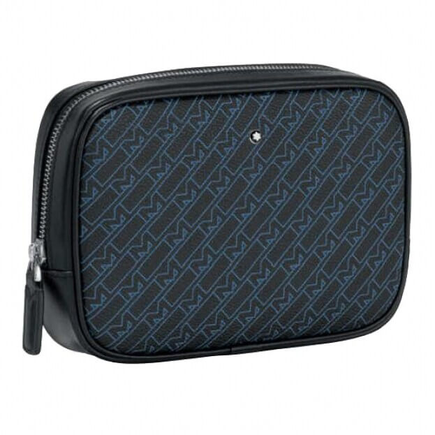 MONTBLANC Δερμάτινη Θήκη Νεσεσέρ M_Gram 4810 Vanity Bag Μπλε