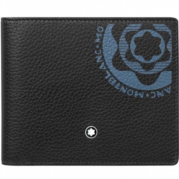 MONTBLANC Δερμάτινο Πορτοφόλι Meisterstück Soft Grain Wallet 6cc Μαύρο
