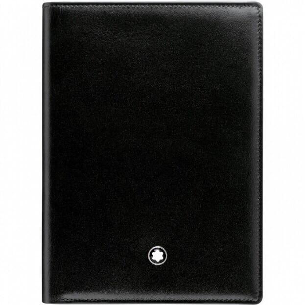 MONTBLANC Δερμάτινο Πορτοφόλι Meisterstück Wallet 7cc with ID Card Holder Μαύρο