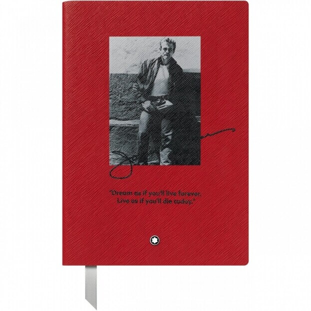 Montblanc Fine Stationery Notebook #146 Σημειωματάριο Δερμάτινο Α5 Great Characters James Dean Κόκκινο