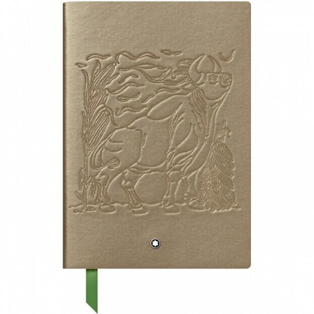 Montblanc Fine Stationery Notebook #146 Σημειωματάριο Δερμάτινο Α5 The Legend of Zodiacs The Ox Χρυσό