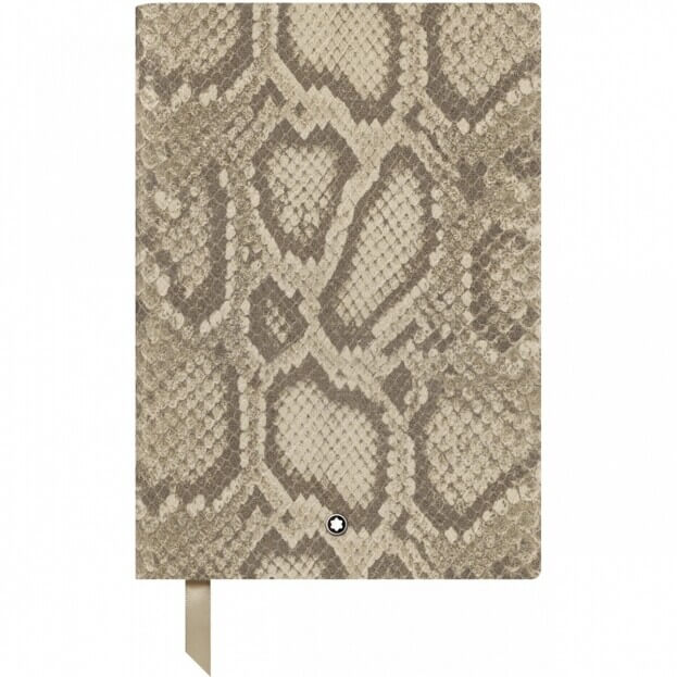 Montblanc Fine Stationery Notebook #146 Μπλοκ Σημειώσεων Δερμάτινο Α5 Python Print Roccia Caldo