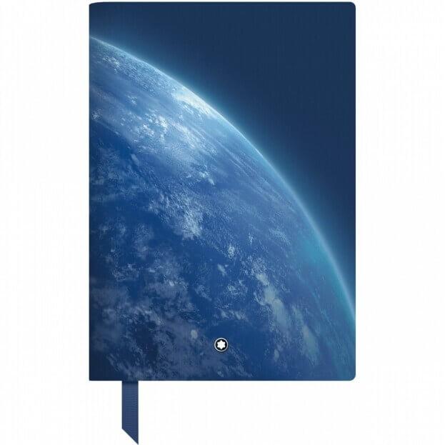 Montblanc Fine Stationery Notebook #146 Σημειωματάριο Δερμάτινο Α5 StarWalker Blue Planet Μπλε