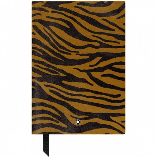 Montblanc Fine Stationery Notebook #146 Σημειωματάριο Δερμάτινο Α5 Animal Print Tiger