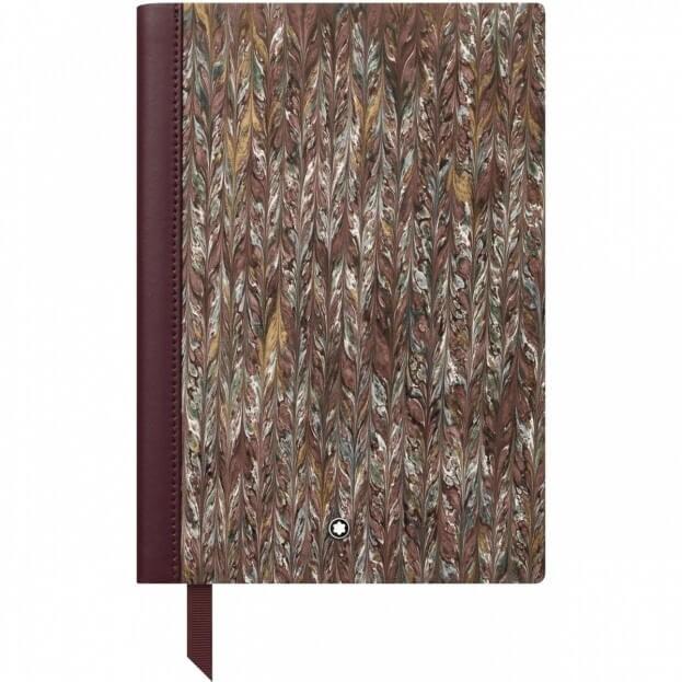 Montblanc Fine Stationery Notebook #146 Μπλοκ Σημειώσεων Δερμάτινο Α5 Marble Effect Paper Brown