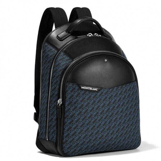 Montblanc M Gram 4810 Backpack Μαύρο & Μπλε Δέρμα