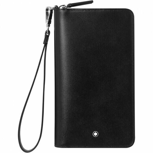 Montblanc Meisterstück Compact Travel Wallet Μαύρο Δερμάτινο Πορτοφόλι ταξιδίου