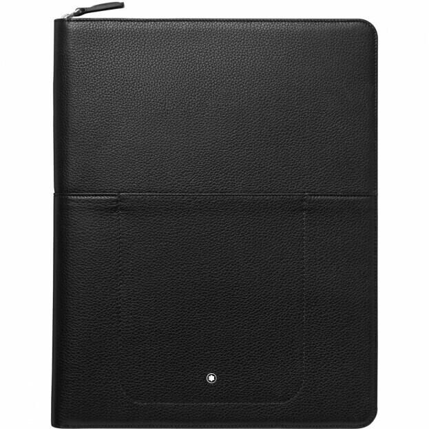 Montblanc Meisterstück Soft Grain Θήκη Notepad με τσέπες Μαύρο Δέρμα