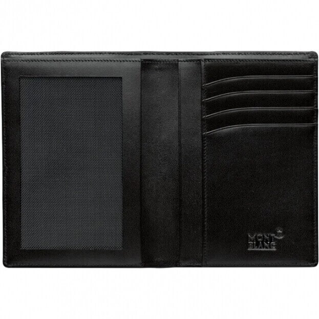 MONTBLANC Meisterstück Wallet 4cc with View Pocket Μαύρο Πορτοφόλι