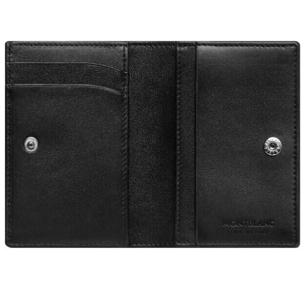 MONTBLANC Meisterstück Soft Grain Black Wallet Business Card Holder with Banknote Compartment