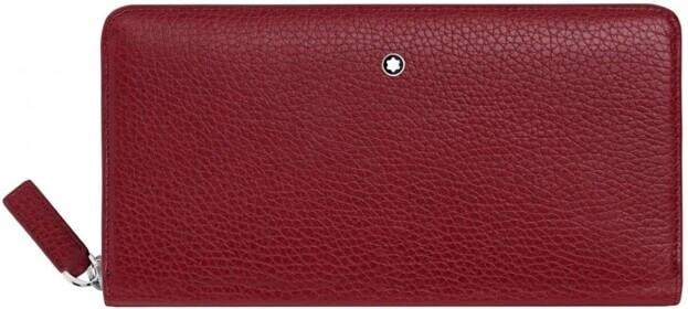 Montblanc Meisterstuck 8cc Long Wallet Κόκκινο Δερμάτινο Πορτοφόλι με φερμουάρ