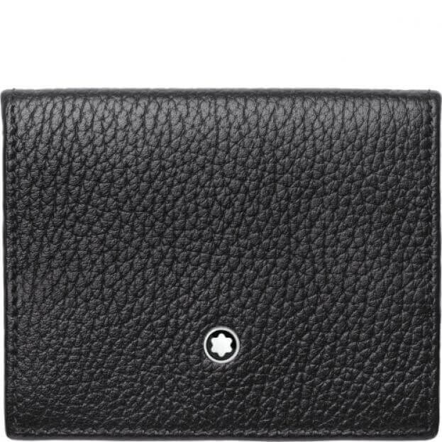 MONTBLANC MEISTERSTUCK SOFT GRAIN COIN CASE SMALL BLACK