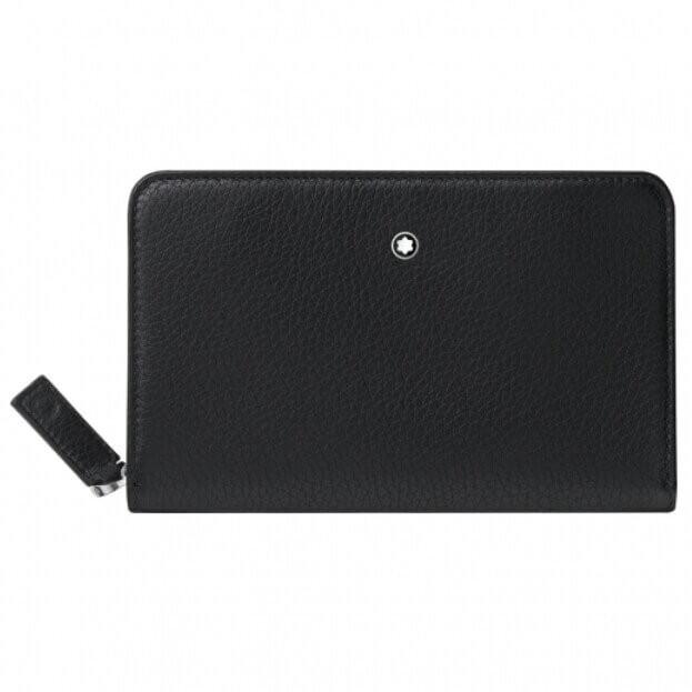Montblanc Πορτοφόλι Meisterstuck Soft grain 4cc with coin case & zip Black