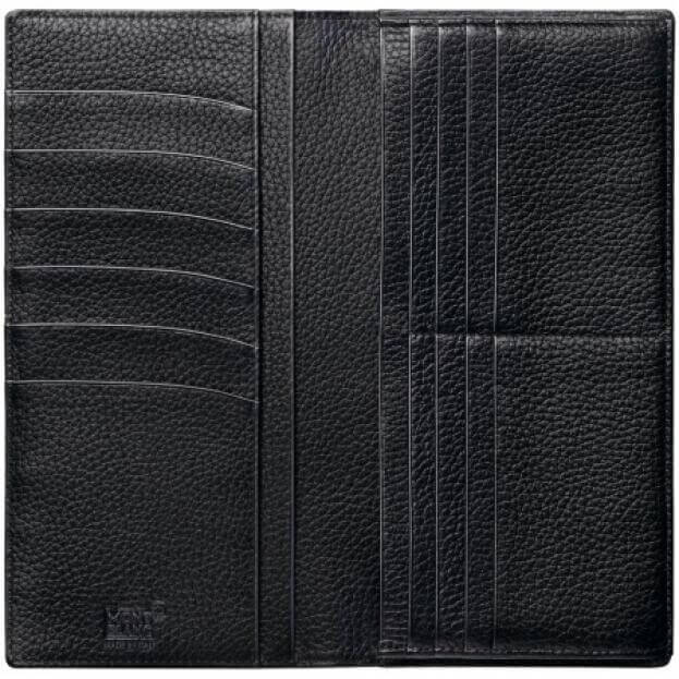 MONTBLANC MEISTERSTUCK SOFT GRAIN LONG WALLET 14CC BLACK